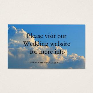 Clouds Wedding wedding card