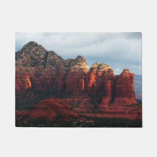 Cloudy Coffee Pot Rock in Sedona Arizona Doormat