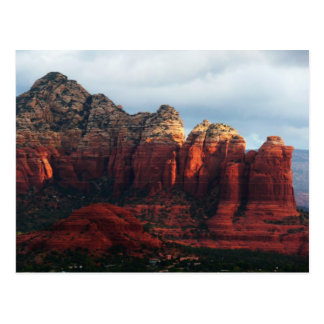Cloudy Coffee Pot Rock in Sedona Arizona Postcard