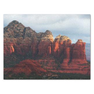 Cloudy Coffee Pot Rock in Sedona Arizona Tissue Paper