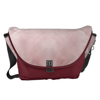 Cloudy Pink Abstract Courier Bag