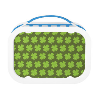 Clover Leaf Illustration Lunch Box