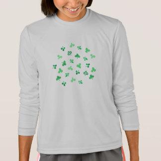 Clover Leaves Girls' Sports Long Sleeve T-Shirt