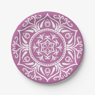 Clover Mandala Paper Plate