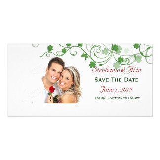 Clover Save The Date PhotoCards Personalized Photo Card