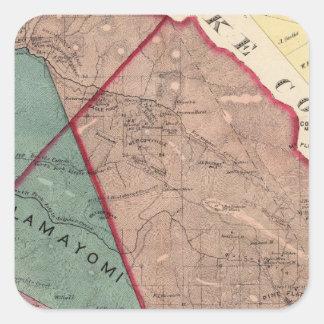 Cloverdale, Washington, Mendocino Square Sticker