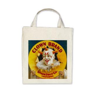 """Clown Brand citrus crate label, circa 1940"" Tote Bags"