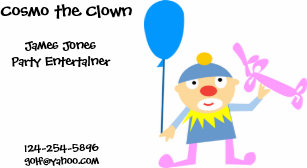 Clown business cards gifts on zazzle nz clown business card colourmoves