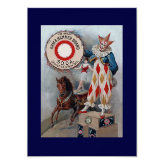 Clown Doll Horse Poster