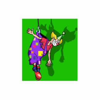Clown hanging from pants photo cut outs