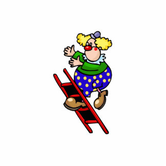 Clown on Ladder Photo Cut Out