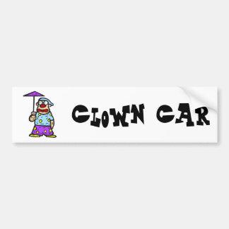 Clown with little Umbrella Car Bumper Sticker