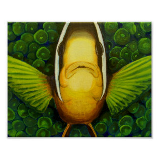 Clownfish in Anemone Poster