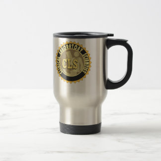 CLS BADGE - CLINICAL LABORATORY SCIENTIST STAINLESS STEEL TRAVEL MUG