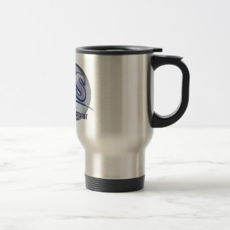 CLS FunBlue LOGO - CLINICAL LABORATORY SCIENTIST Stainless Steel Travel Mug