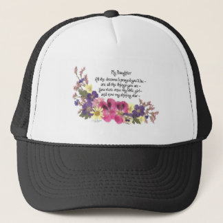 Clthing for a daughter trucker hat