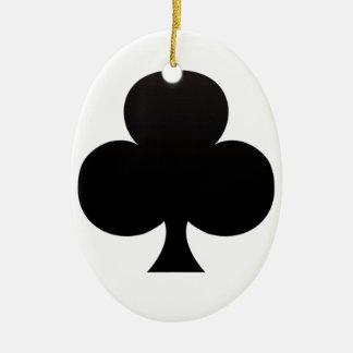 Club Poker Icon Christmas Ornament