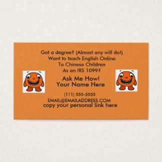 Club VIP 4 AM Teacher Referral Business Card