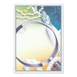 Clue © 13 cm x 18 cm invitation card