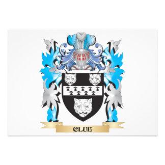 Clue Coat of Arms - Family Crest Custom Announcement