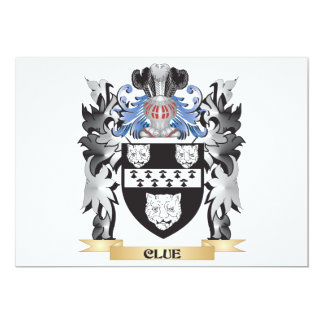 Clue Coat of Arms - Family Crest 13 Cm X 18 Cm Invitation Card