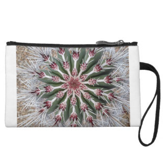 Clutch Wristlet with Top View of Cactus