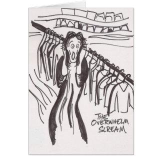 Clutter Scream Card