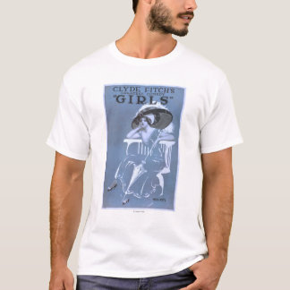 """Clyde Fitch's Greatest Comedy, """"Girls"""" Theatre T-Shirt"""