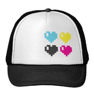 CMYK Pixel Hearts cap