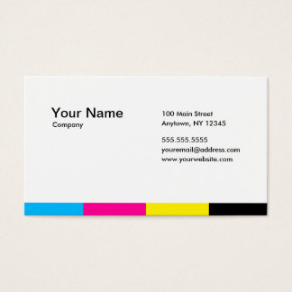 CMYK_STRIPES BUSINESS CARD