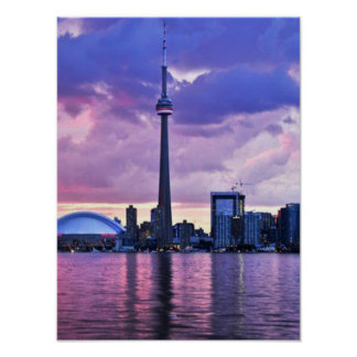 CN Tower : View from Center Island Toronto Poster