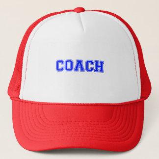 Coach Blue Font Trucker Hat