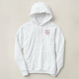 Coast Guard Wife Embroidered Hoodie
