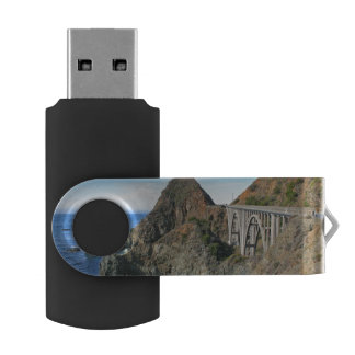 Coast Highway 1 - Big Creek Bridge USB Flash Drive