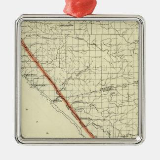 Coast of California showing San Andreas Rift Christmas Ornament