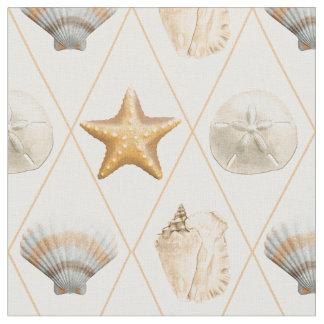 Coastal Decor Seashell Pattern Fabric