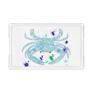 Coastal look crab serving tray