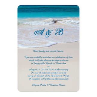 Coastal Vows Wedding Letter From Couple Card