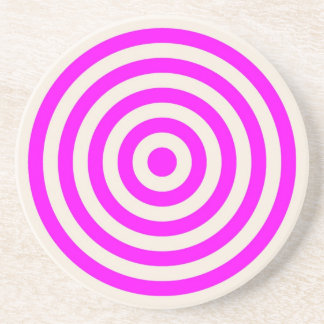 Coaster – Round – Buttermilk Cream & Magenta