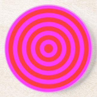 Coaster – Round – Magenta & Red circles
