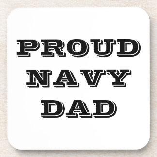 Coaster Set Proud Navy Dad
