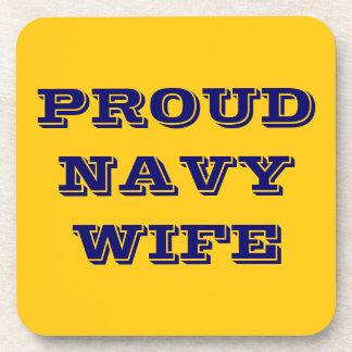 Coaster Set Proud Navy Wife
