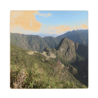 Coaster with a picture of beautiful Machu Picchu