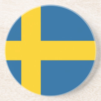 Coaster with Flag of Sweden
