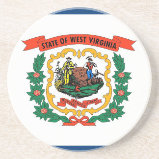 Coaster with Flag of West Virginia, USA