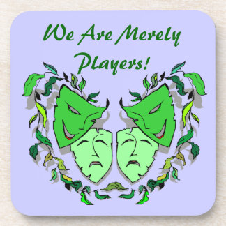 Coasters Gift Theatre Comedy Tragedy Masks & Text