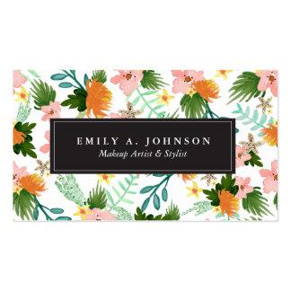 Coastline Floral Pack Of Standard Business Cards