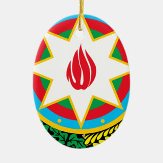 Coat of Arms of Azerbaijan - Азәрбајҹан герби Christmas Ornament