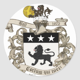 Coat of Arms of Colonel William Ball of Virginia Stickers