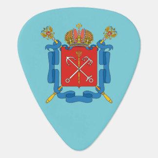 Coat of arms of Saint Petersburg Guitar Pick